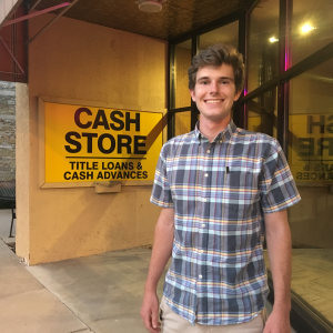 Quin Brunner investigates payday lending practices as a part of his internship.