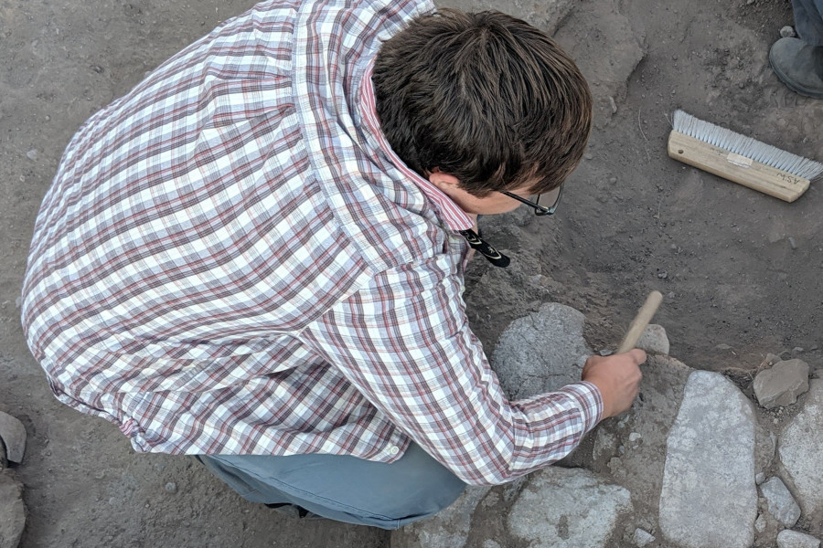 Alex Cullison '20 conducted research at the Preservation Archaeological Field School in New Mexico where he excavated a field unit at the Gila River Valley Farm Site.