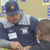 Beloit College Baseball players discuss lunch buddies program