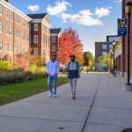 Two Beloiters walk through campus.