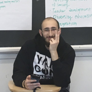 Ed Stern'19 in class at Beloit College