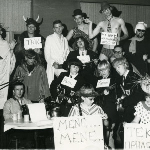 "During the 1950s and 1960s, the Gold printed an annual ""Who's Who,"" a dressed-for-success lineup of Beloit College's ""outstanding leaders,"" chosen by the Student-Administration Committee. In reaction, the Round Table staff picked a ""Who Ain't,"" compiled of students left in the dust as undesirable."