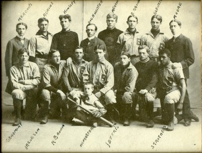 1898 Beloit College Baseball team with Beaumont and Adkins