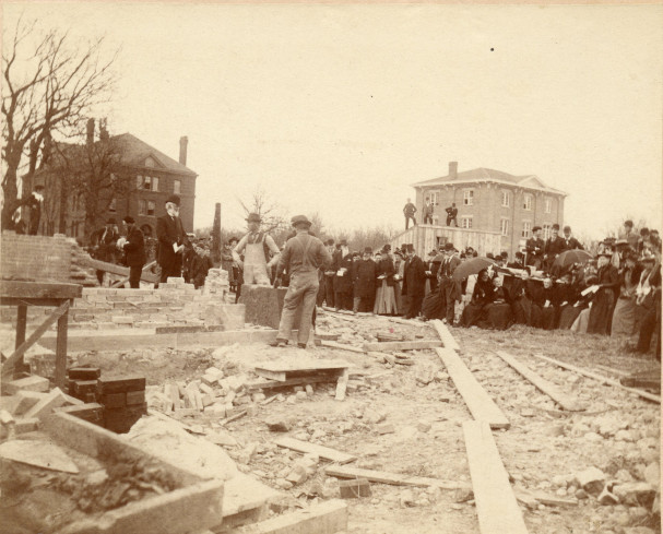Pearsons Hall laying of the Cornerstone May 12, 1892
