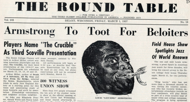 A Round Table advertisement for a performance by Louis Armstrong.