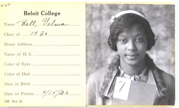 Velma Bell Hamilton's freshman identification photo, 1926