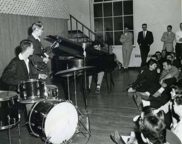 A Jazz concert held in the Smith Student Union.