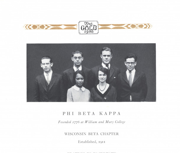 Velma Bell Hamilton in the Gold's Phi Beta Kappa picture.