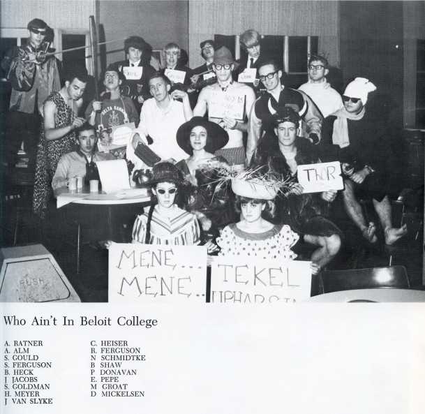 Black and White 1964 Who Ain't Photo with students' names