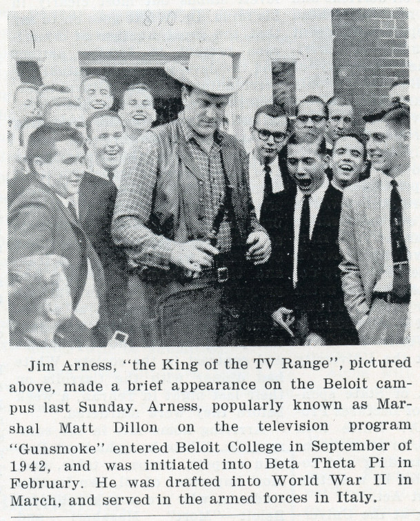 James Arness pictured in the Round Table.