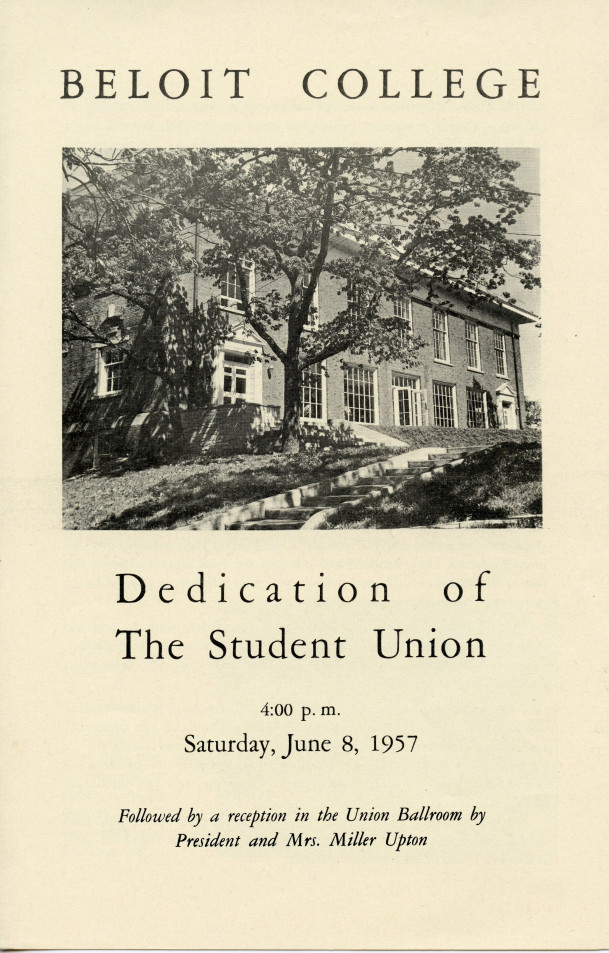 Dedication for the Student Union circa 1957.