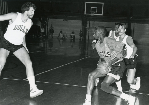 Chicago Bulls at Beloit College in 1986.