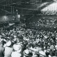 A commencement ceremony in the Marvin Field House, circa 1950.