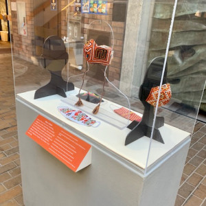 The Logan Museum of Anthropology's Wear a Mask! exhibit displays hand-made face masks produced by Indigenous artists using their communities' artistic practices and styles.