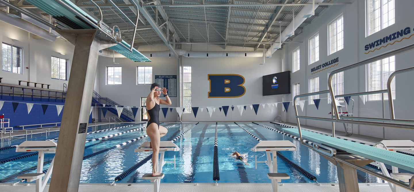 Swimming inside the Beloit College Powerhouse