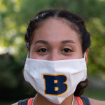 Beloit Student wears B mask.