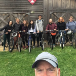 "Eight students in the 2019 Beloit Summer Blocks course ""Writing on Two Wheels"" are combining creative writing with bicycling to explore the community of Beloit and the area beyond it. The ride is lead by English Professor Chuck Lewis."