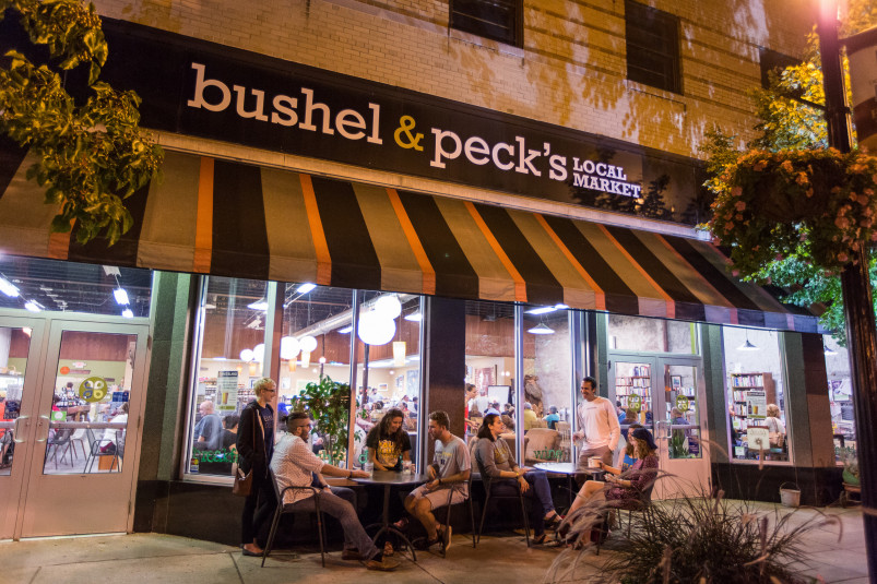 Bushel & Peck's local market is a favorite spot for locally sourced and organic groceries...