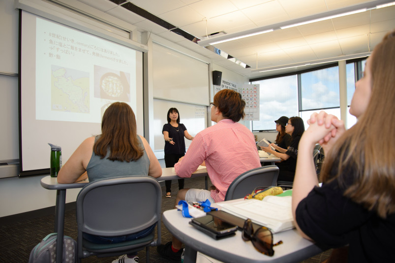 Students learning Chinese in a full immersion style program during Beloit's Center for Language S...