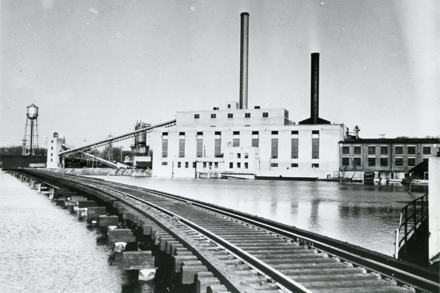An historical photograph of the Powerhouse