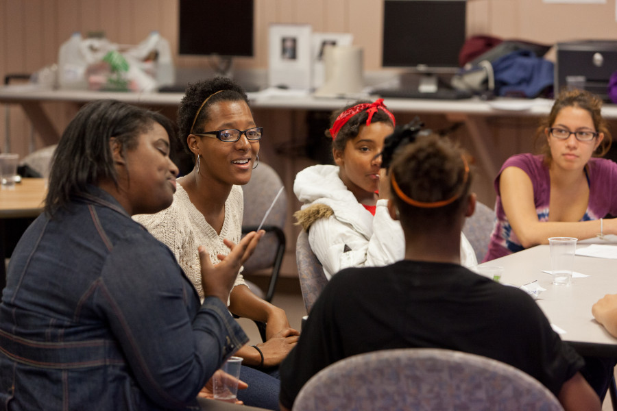 Beloit College students mentor young women of the Beloit community.