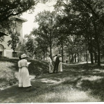 The path leading from downtown up to campus on the west side near Smith Building c.1910.