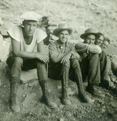 Paul Nesbitt (second from left) and students on the 1934 Southwest Expedition.