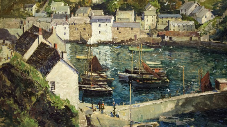 Detail of Jonas Lie Fishing Harbor