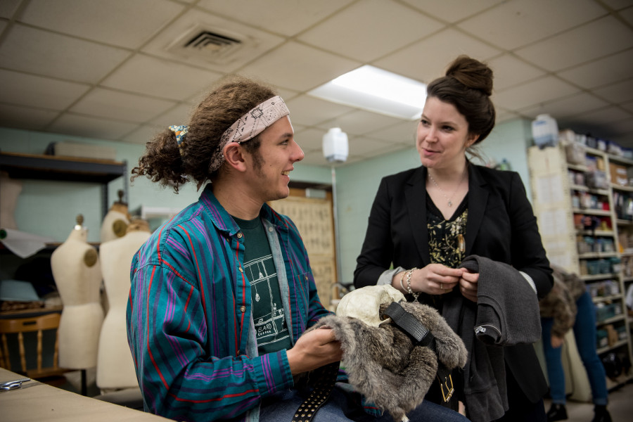 Professors work closely with students designing and creating innovative costumes for the various theatre performances throughout the year at the Neese Theatre.