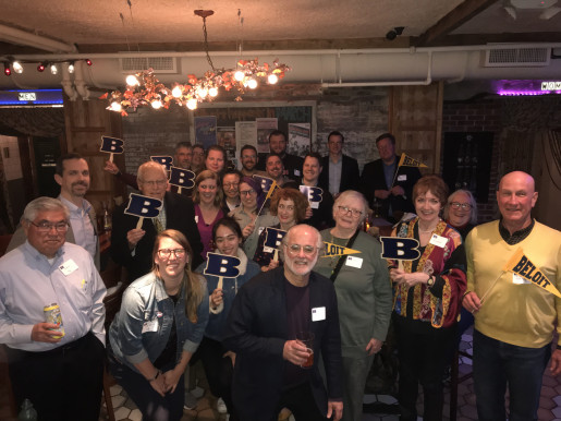 Beloiters gathered in Boston, April 2019.