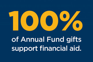 100% of Annual Fund gifts support financial aid