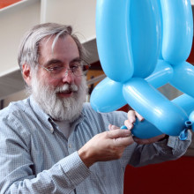 Ballon model of a carbon nanotube