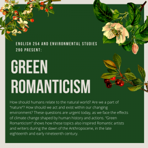 Poster for the Green Romanticism virtual exhibit.