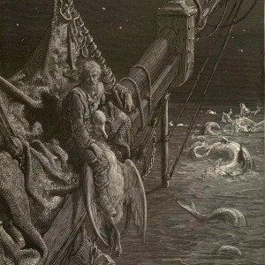 "Gustave Doré, ""I watched the water-snakes,"" engraving from Rime of the Ancient Mariner"