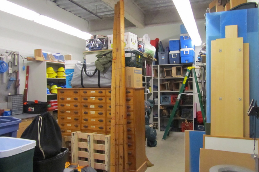 The Geology Department's extensive collection of equipment is stored in the field gear room.