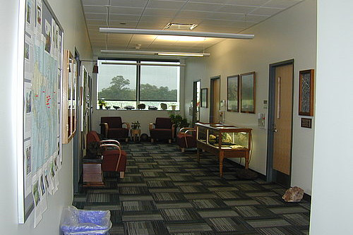 The Geology Department common area.