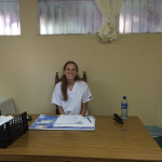 Simone Harstead at a women's health clinic in Nicaragua.