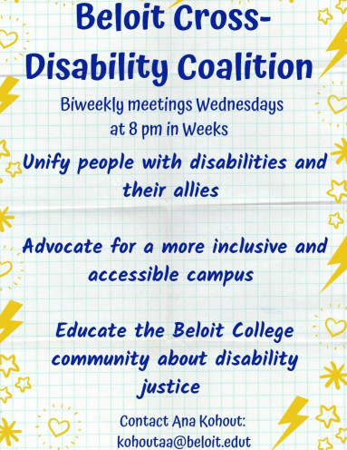 Beloit Cross-Disability CoalitionBiweekly meetings Wednesdays at 8pm in WeeksUnify people with di...