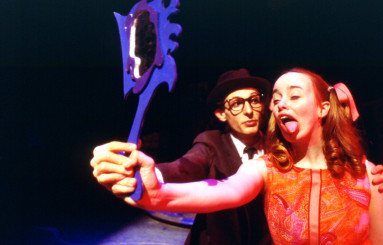 Lily Breslin and Matt Anderson in Existential Gourmet by Mindi Dickstein.  Set design received a ...