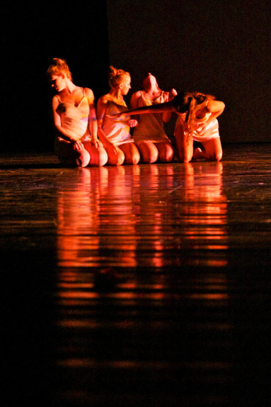 Dancers perform Holding Patterns at the World Dance Alliance.