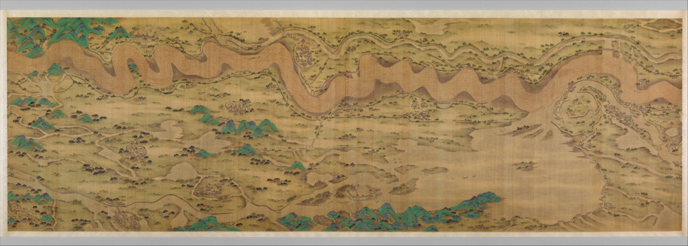 Ten Thousand Miles along the Yellow River, a painting from 17th to early 18th century China creat...