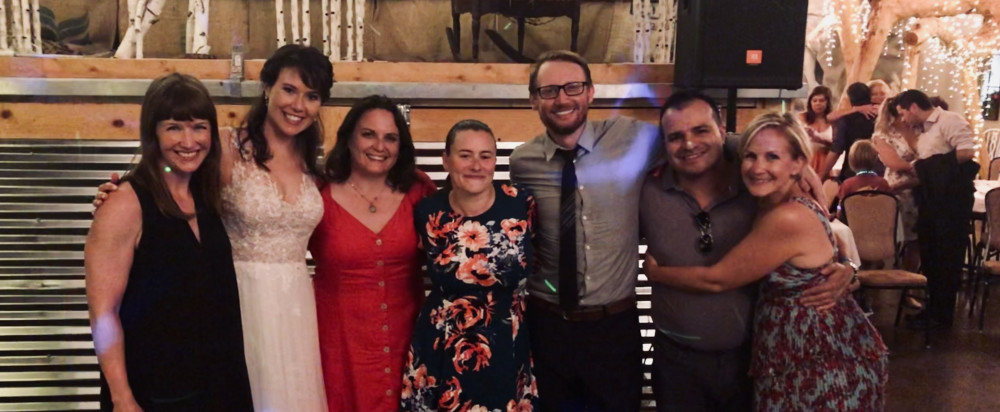 Emily Polak-Perez?03 had a small reunion of Beloit alumni for her wedding on Aug. 10, 2019, in Sa...