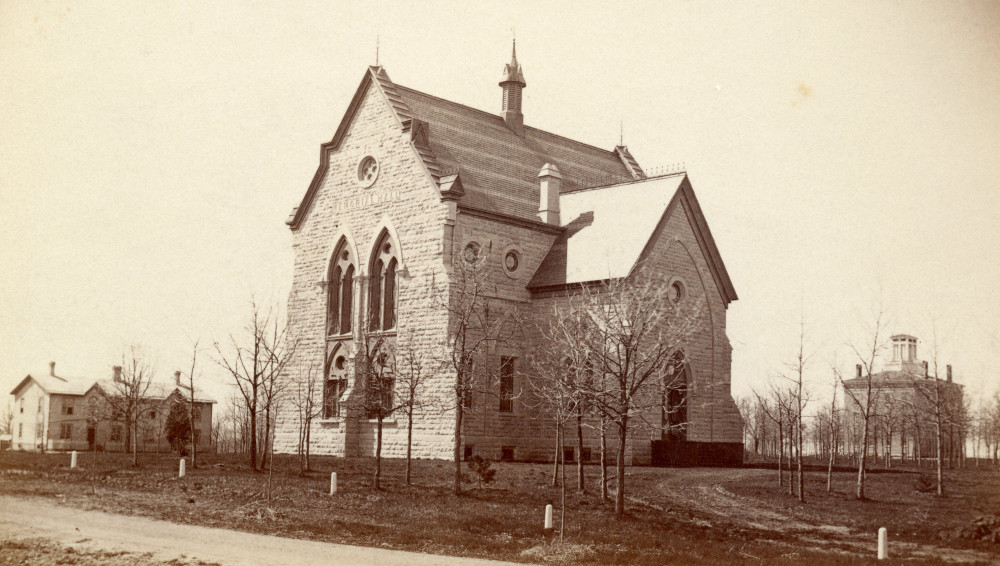 Memorial Hall, shown in the 1870s, observed a 150-year milestone on July 14, 2019.