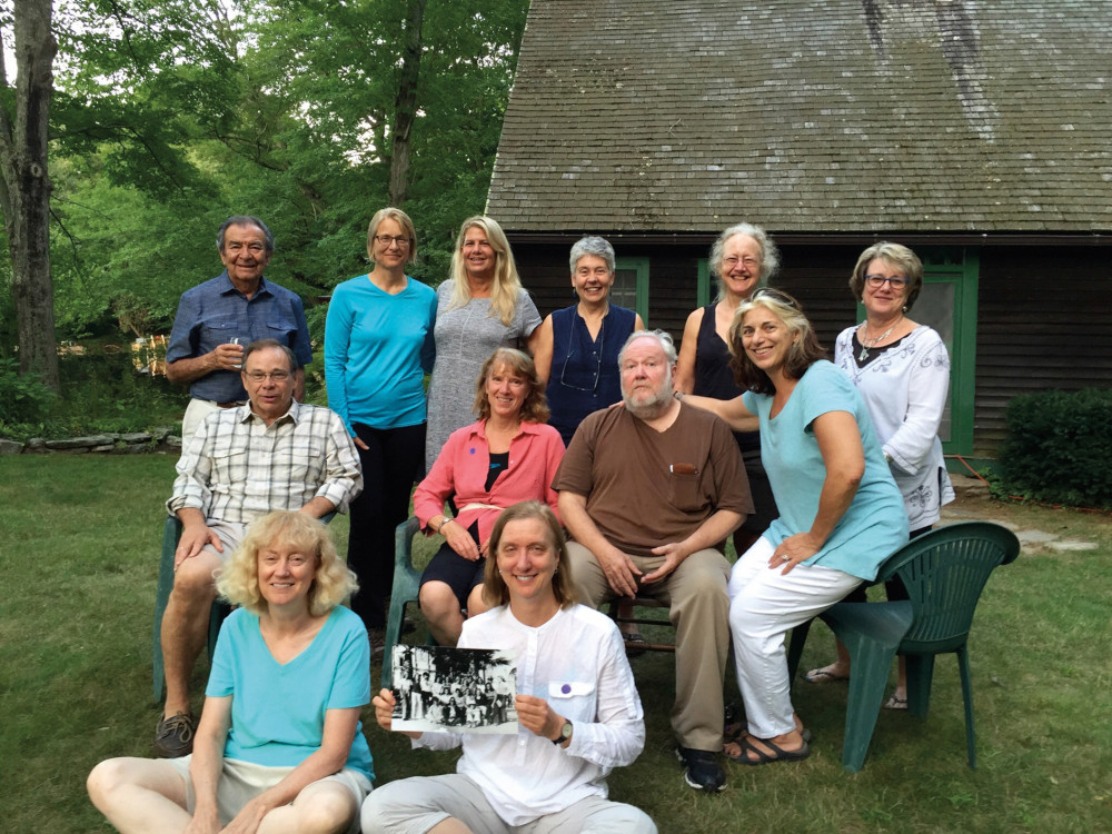 El Grupo during a 2016 Connecticut reunion, left to right: On the ground: Karen Goodhope, and Bet...