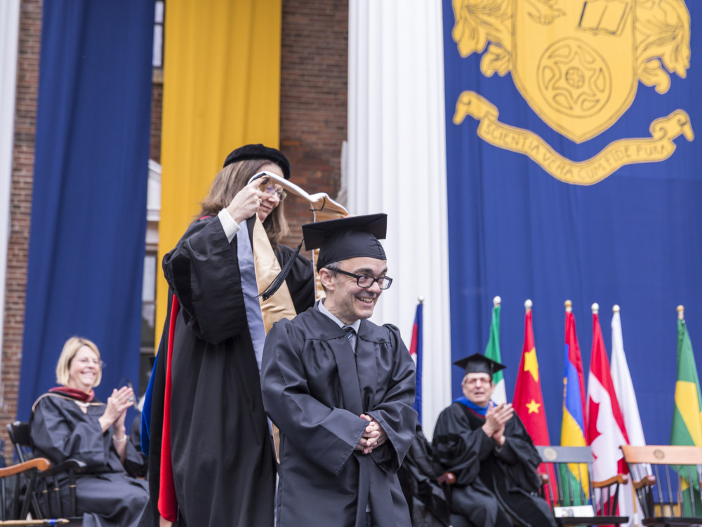 Gary Arnold'92 delivered the college's 168th Commencement address and receives an honorary de...