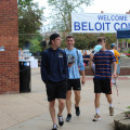 First-year students enjoying the festivities of move-in day.