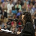 Commencement speaker Ruth Hamilton'07 acknowledged students' place on a cusp as they waited t...