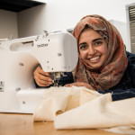 With repurposed fabric, a strong sense of fashion, and a sewing machine, Qurat ul Ain'20 brought sustainable clothes and bags to Beloit to raise awareness about the waste of the fashion industry.