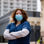 Shanna Dell'10 opted to take a clinical post during the pandemic so she could care for sick people the way she would want to be treated.