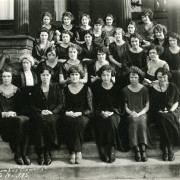The intrepid Mabel Lee (second row, far left) led Beloit?s early physical education program for w...
